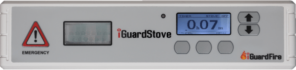 screenshot of iGurard Stove wtih the emergency symbol and numbers