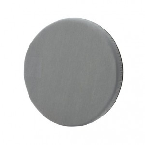 round grey cushion swivel seat
