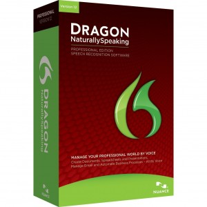 image of dragon naturally speaking software box