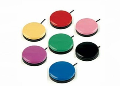 picture of 7 medium sized swithces all different colors with cords