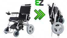 picture of the ez lite crusier poratble foldable lightweight power chair