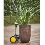 The Potted Plant Mover with 2 Wheels is transportation for potted plants for 8 inches to 30 inches tall.