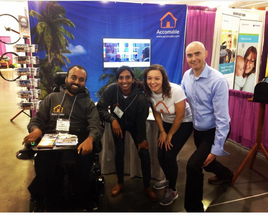 Picture of the Accomable team at there booth at the Abilities Expo
