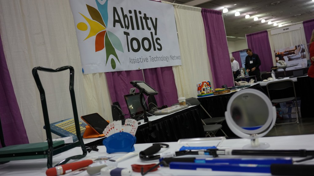 Picture of Ability Tools large AT showcase booth
