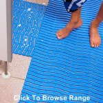 bright blue textured anti-slip mats
