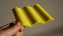 Yellow 3D model of wave length