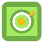 Reach my goals app image, green bullseyes.