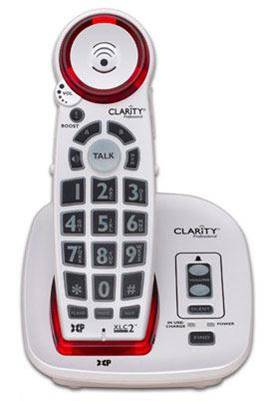 A phone you can receive through the California Phones program. It has larger buttons and a louder speaker.