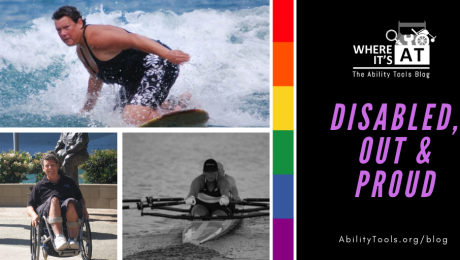 Photos of Angela Madsen - surfing, rowing, smiling in her wheelchair