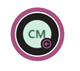 """A Teams profile bubble with a pink ring around it with the """"Out of Office"""" icon in the bottom right corner. The profile picture contains the initials CM."""