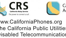 logos of California Phones, California Relay Service, California Telelphone Access Program and Speech to-Speech