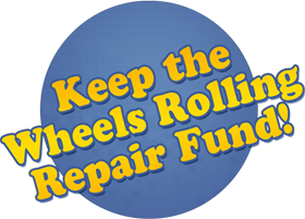 Graphic for Keep the Wheels Rolling Repair Funds!
